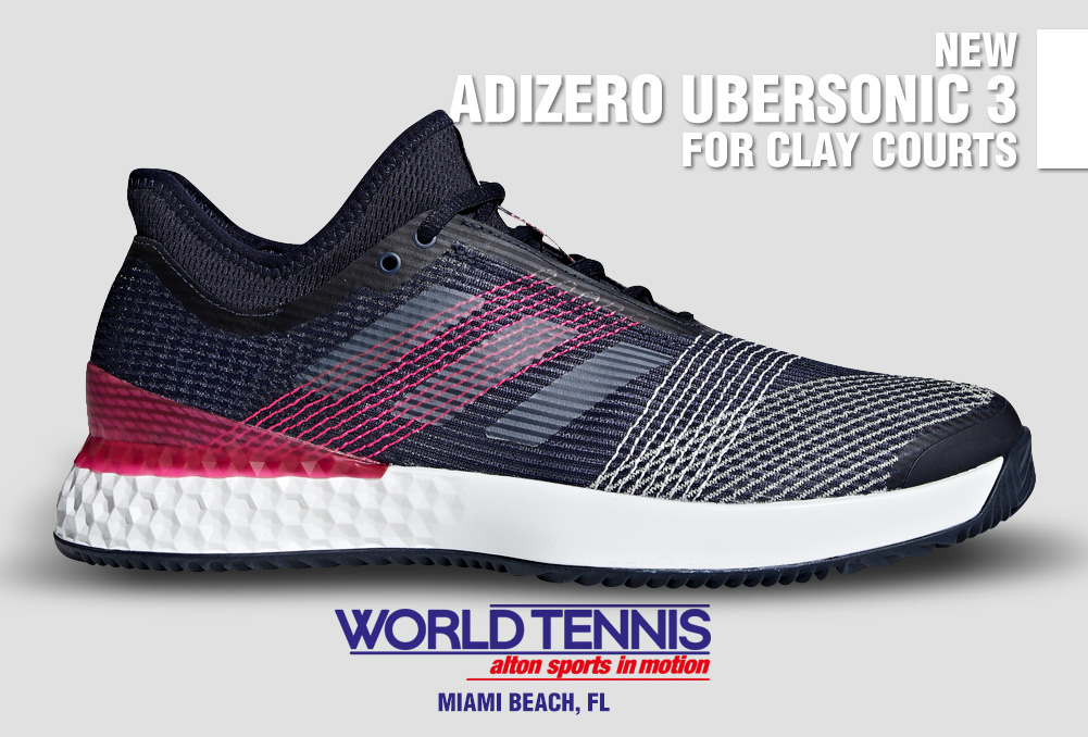 reputable site 892ec 907db Adizero Ubersonic 3. New Tennis Shoe for Clay Courts